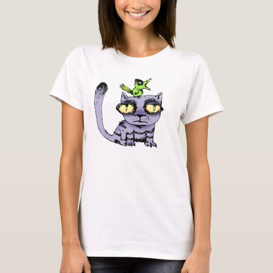 Cat and Bird T-Shirt
