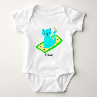 Cat and Bird T Shirt
