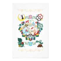CAT AND BIRD WEDDING COUPLE STATIONERY