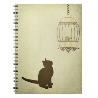 Cat and Birdcage Notebook