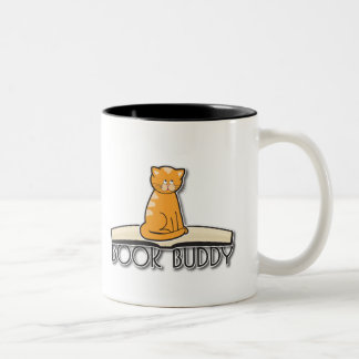 Cat and Books Mug