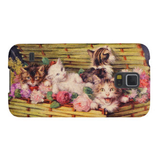 Cat and bouquet galaxy s5 cover