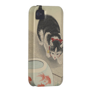 Cat and Bowl of Goldfish by Ohara Koson Case-Mate iPhone 4 Case