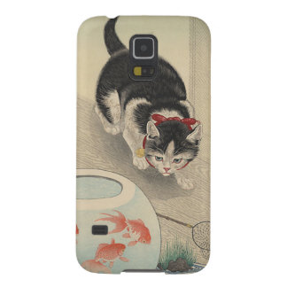 Cat and Bowl of Goldfish by Ohara Koson Galaxy S5 Case