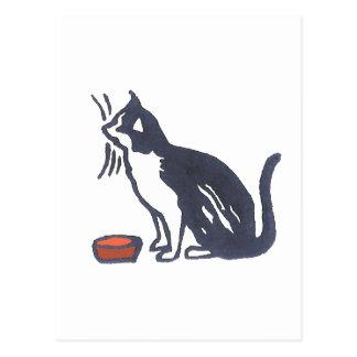Cat and Bowl Postcard