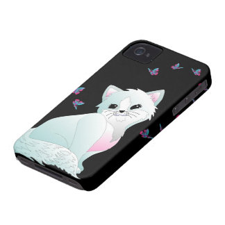 Cat and Butterflies iPhone 4 Cover