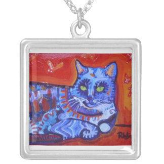 Cat and Butterflies Custom Jewelry