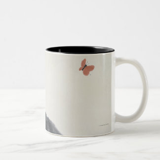 Cat and Butterfly Coffee Mugs