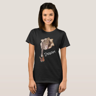 Cat and Butterfly_dark T-Shirt