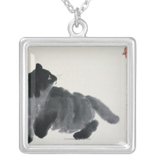 Cat and Butterfly Pendant