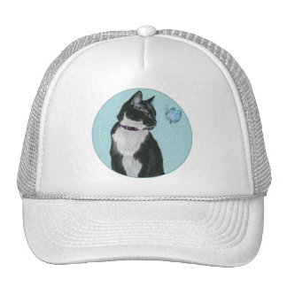 Cat and Butterfly Trucker Hat