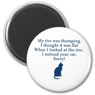 Cat and Car Fridge Magnets