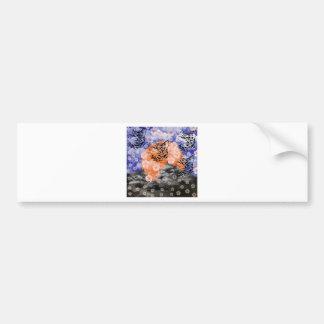 Cat and cherry tree and Matsuyama castle Bumper Sticker