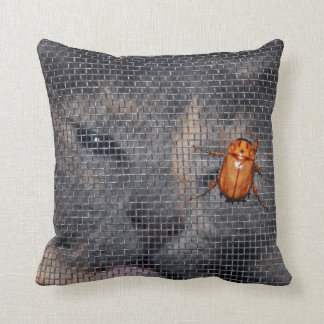 Cat and Christmas Beetle Pillow