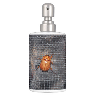 Cat and Christmas Beetle Soap Dispensers