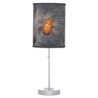 Cat and Christmas Beetle Table Lamp