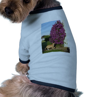 Cat and Clematis Doggie T Shirt