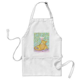 Cat and cosmopolitan adult apron