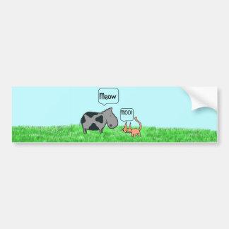 Cat And Cow Friends Bumper Sticker