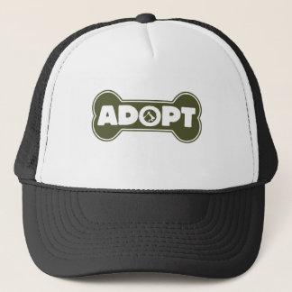cat and dog adoption adopt bone trucker hat