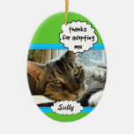 Cat and Dog Adoption Photo Family Pet Ornament