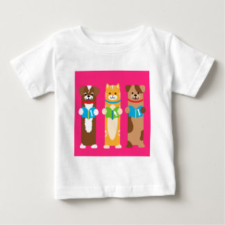 Cat and Dog Bookmarks Baby T-Shirt