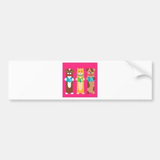 Cat and Dog Bookmarks Bumper Sticker