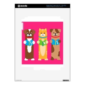 Cat and Dog Bookmarks iPad 3 Decal