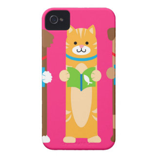 Cat and Dog Bookmarks iPhone 4 Case