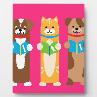 Cat and Dog Bookmarks Plaque