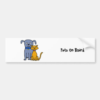 Cat and Dog Bumper Sticker