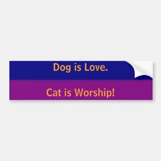 Cat and Dog Bumper Sticker