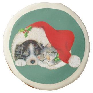 Cat and Dog Christmas Cookies