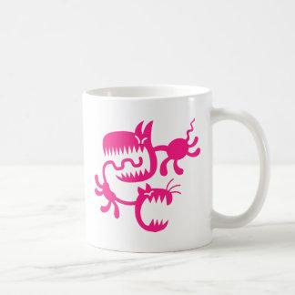 cat and dog classic white coffee mug