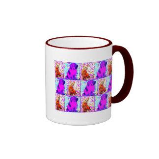 cat and dog collage mug