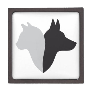 cat and dog head silhouette premium gift boxes