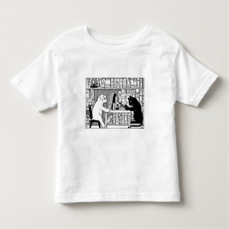 Cat and Dog in the Library Toddler T-shirt