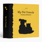 Cat and Dog Pets Vet Clinic Binder