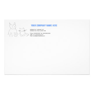 Cat and dog stationery