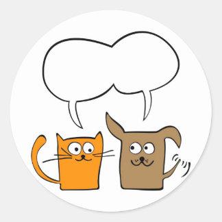 cat and dog sticker