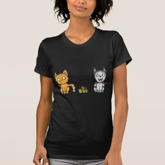 Cat and Dog Thanks T-shirt