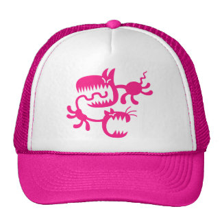 cat and dog trucker hat