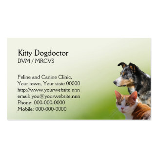Cat and dog vet business business card