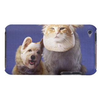 Cat and dog with masks iPod touch case