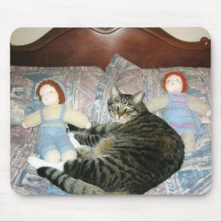 cat and dolls mousepad