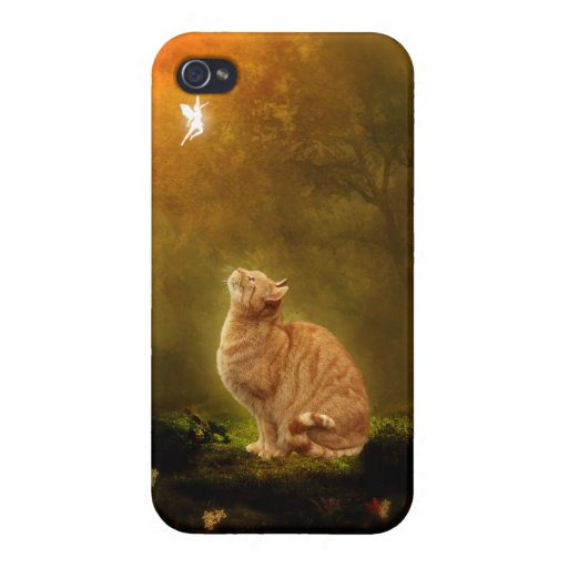 Cat And Fairy Cover For iPhone 4