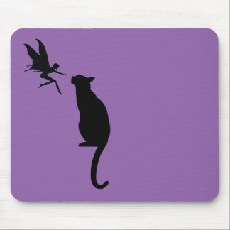 Cat and Fairy design Mouse Pad