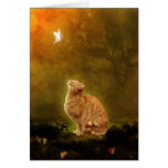 Cat And Fairy Greeting Card
