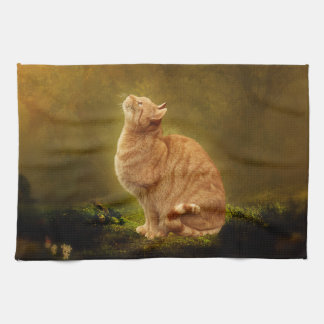 Cat And Fairy Hand Towel