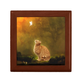 Cat and Fairy Keepsake Box